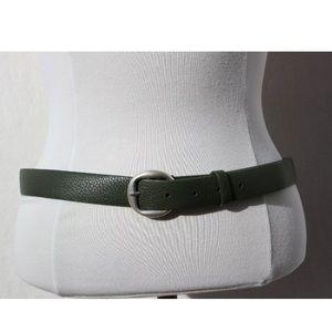 Liz Clairbone Green Genuine Leather Belt XL